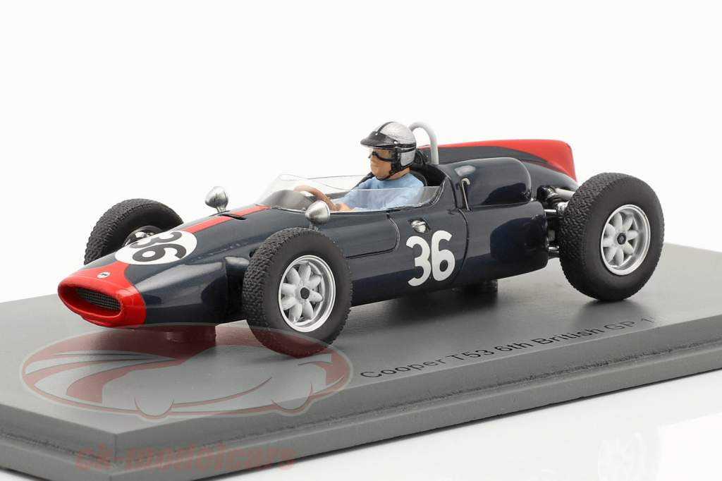 Roy Salvadori Cooper T53 #36 6° Britannico GP formula 1 1961 1:43 Spark