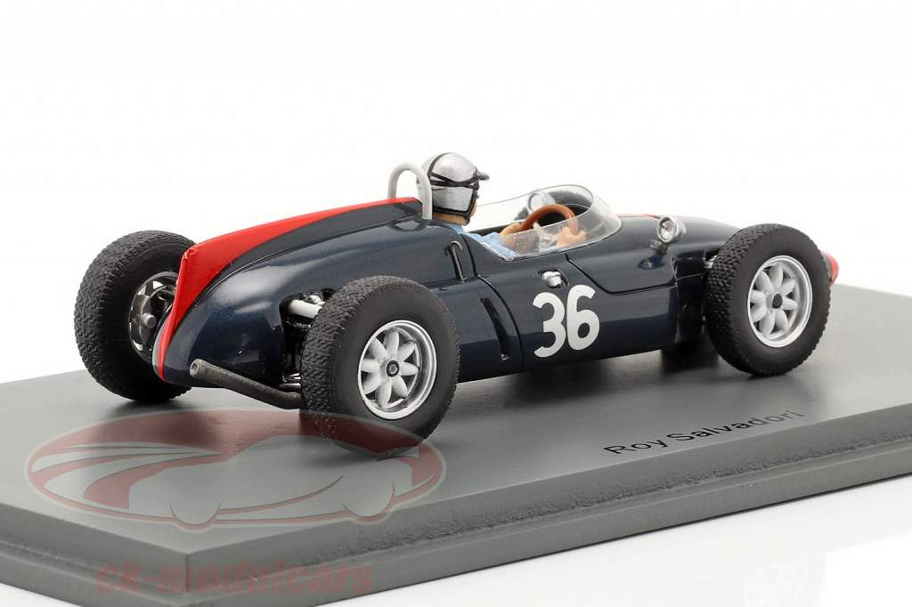 Roy Salvadori Cooper T53 #36 6e Brits GP formule 1 1961 1:43 Spark