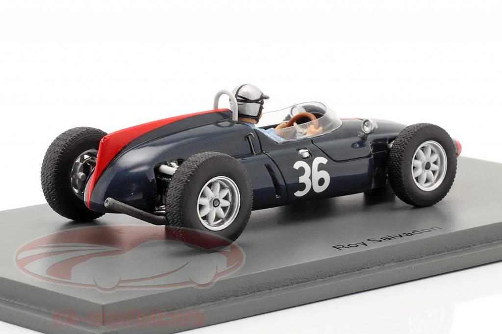 Roy Salvadori Cooper T53 #36 Sexto británico GP fórmula 1 1961 1:43 Spark