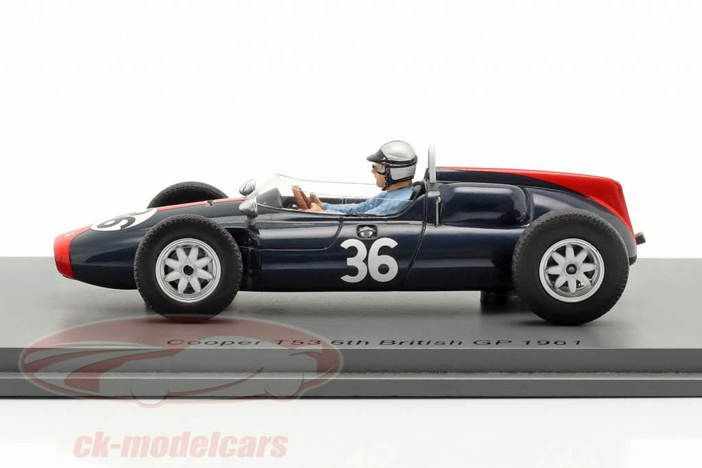 Roy Salvadori Cooper T53 #36 6e Britanique GP formule 1 1961 1:43 Spark
