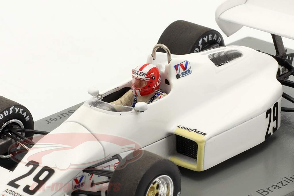 Marc Surer Arrows A6 #29 6. Brasiliansk GP formel 1 1983 1:43 Spark