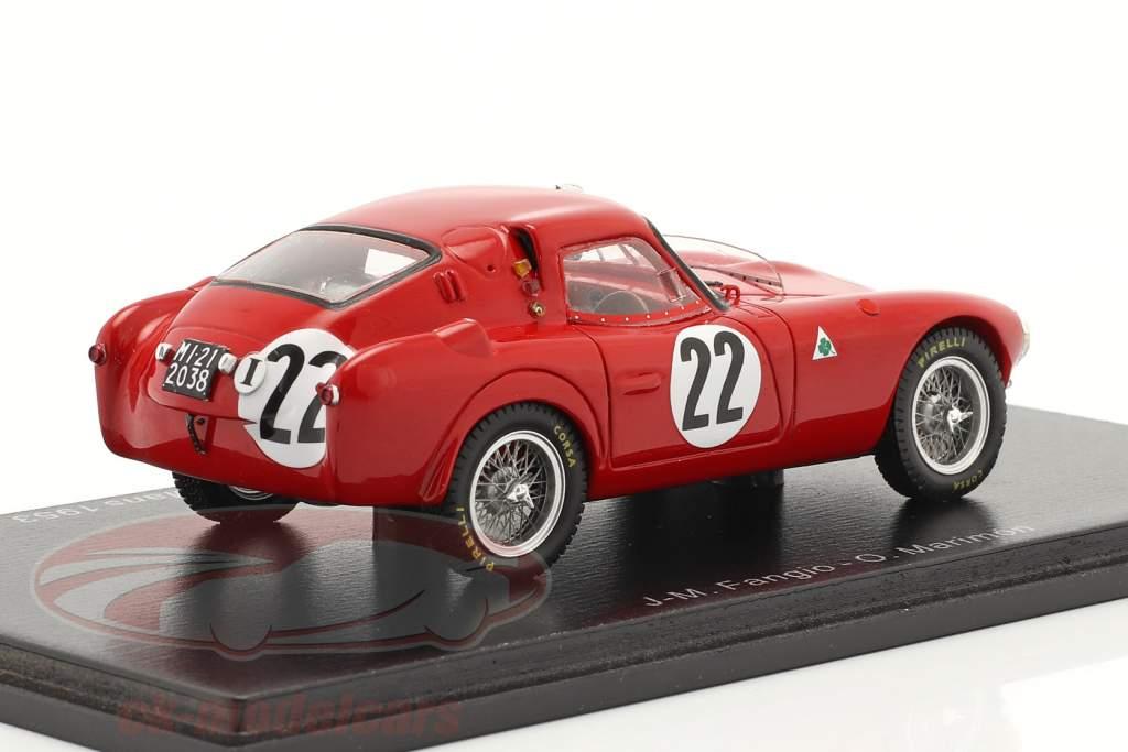 Alfa Romeo 6C 3000 CM #22 24h LeMans 1953 Fangio, Marimon 1:43 Spark