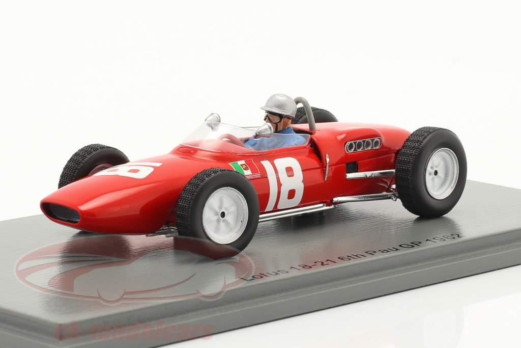 Nino Vaccarella Lotus 18-21 #18 Sexto GP de Pau 1962 1:43 Spark
