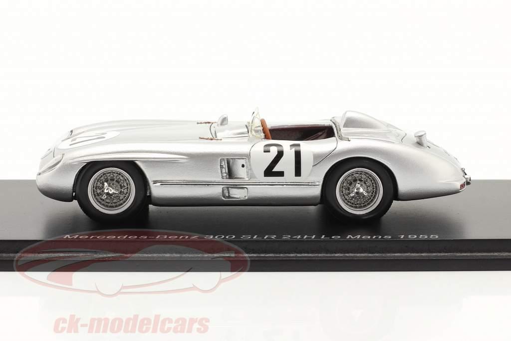 Mercedes-Benz 300 SLR #21 24h LeMans 1955 Kling, Simon 1:43 Spark