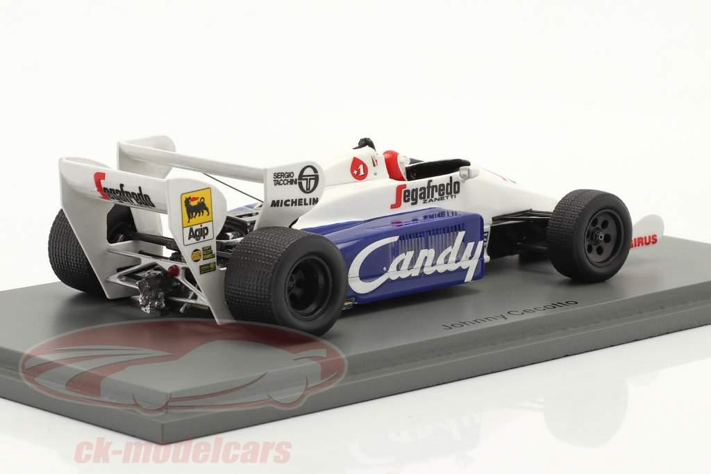 Johnny Cecotto Toleman TG184 #20 Mônaco GP Fórmula 1 1984 1:43 Spark