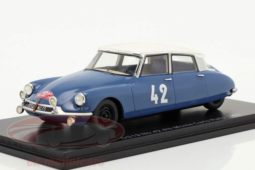 Citroen DS19 #42 4th Rallye Monte Carlo 1963 Bianchi, Ogier 1:43 Spark