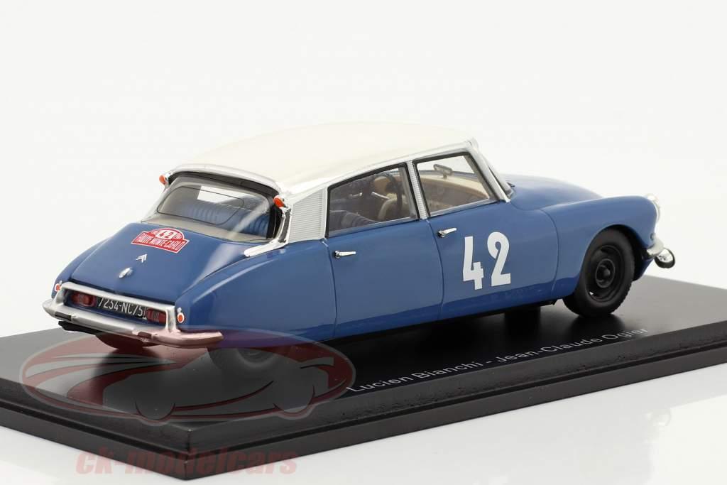 Citroen DS19 #42 Cuarto Rallye Monte Carlo 1963 Bianchi, Ogier 1:43 Spark