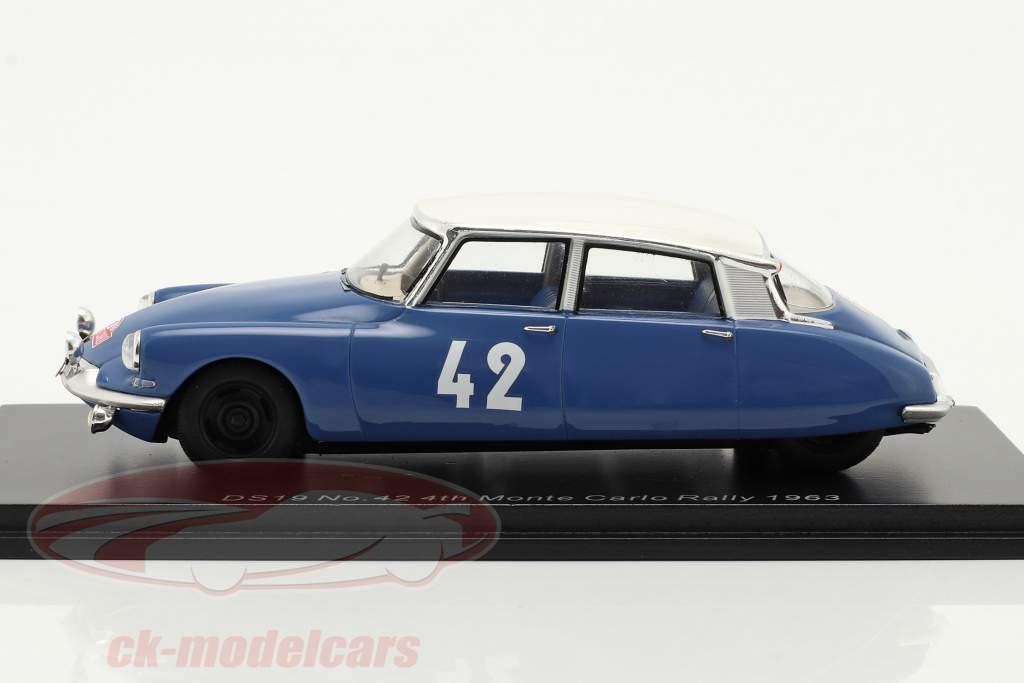 Citroen DS19 #42 4º Rallye Monte Carlo 1963 Bianchi, Ogier 1:43 Spark
