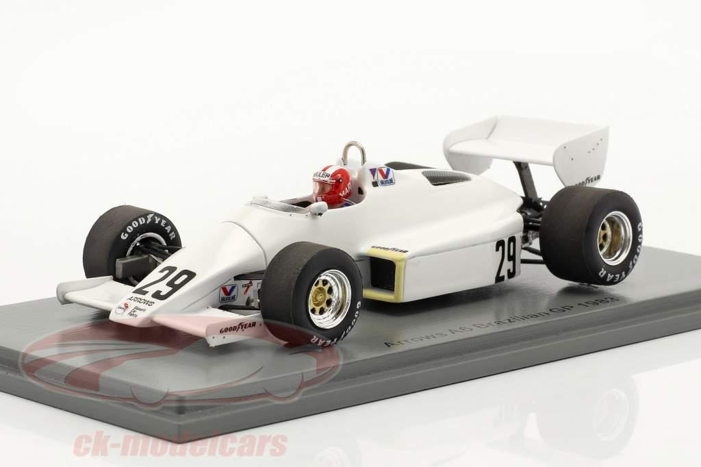 Marc Surer Arrows A6 #29 6e Braziliaans GP formule 1 1983 1:43 Spark