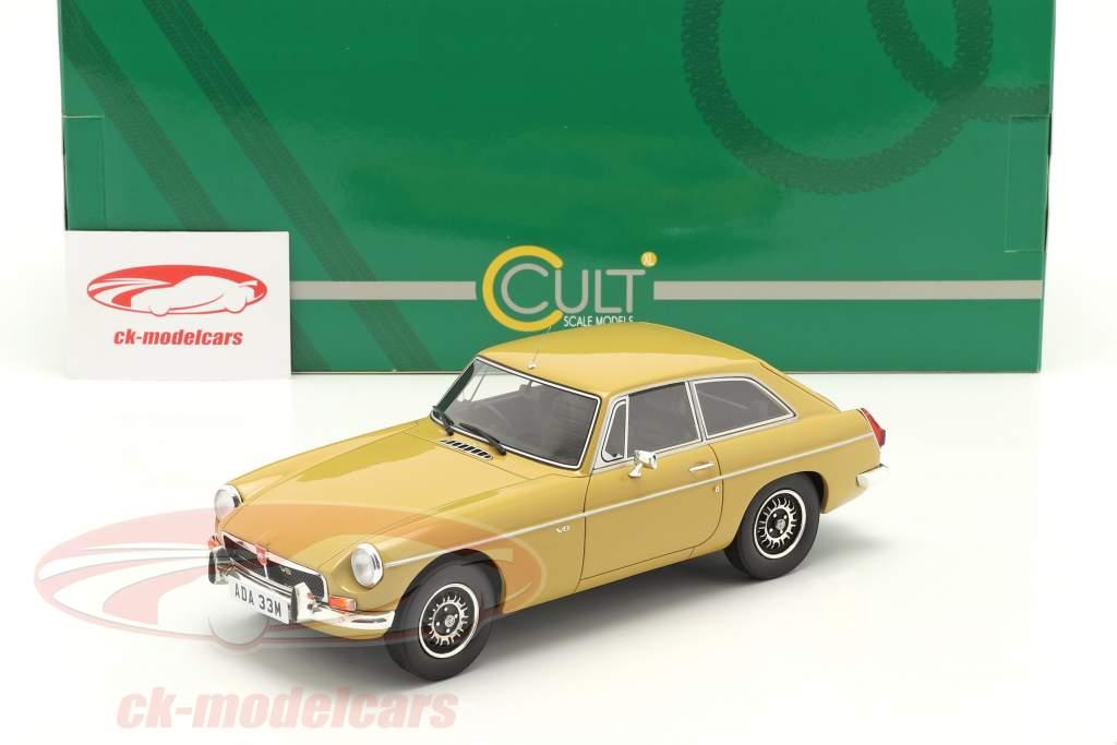 MGB GT V8 bouwjaar 1974 harvest goud 1:18 Cult Scale
