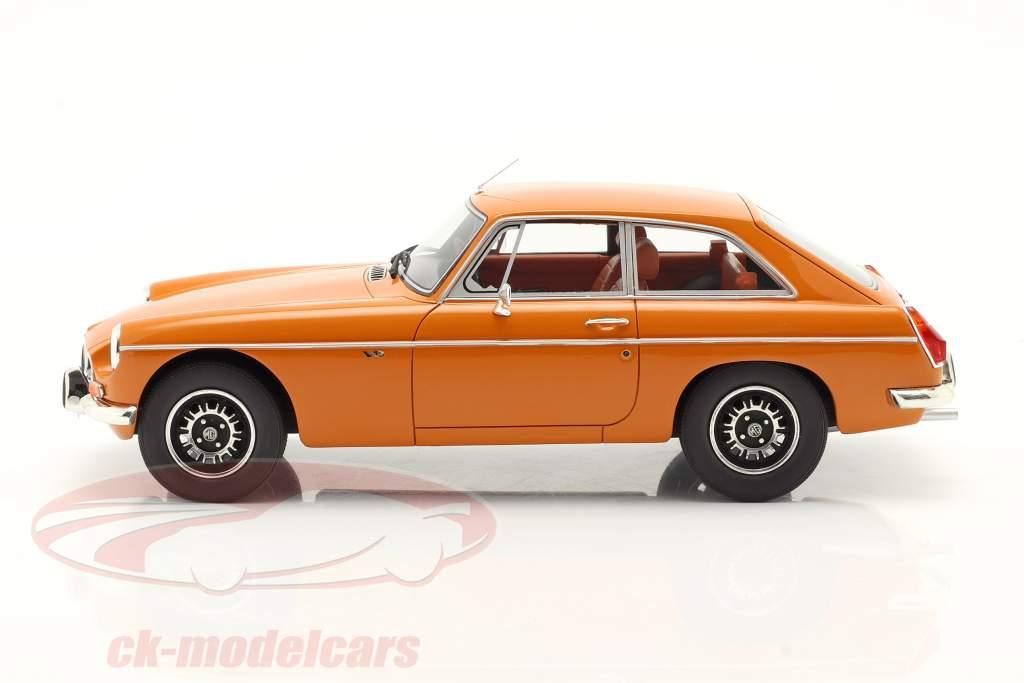 MGB GT V8 Année de construction 1974 Orange 1:18 Cult Scale