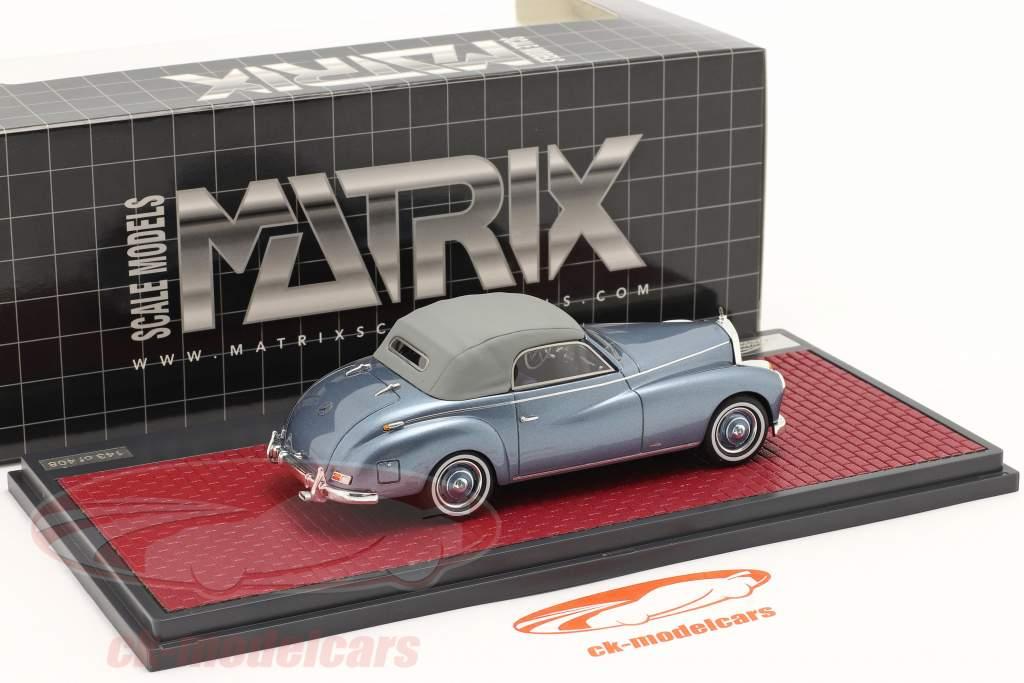 Mercedes-Benz 220 A (W187) Wendler Conversível Closed Top 1952 azul 1:43 Matrix
