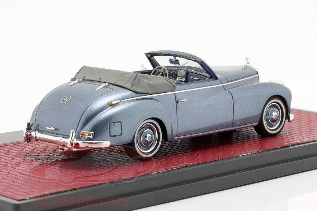 Mercedes-Benz 220 A (W187) Wendler Cabriolet Open Top 1952 blauw 1:43 Matrix