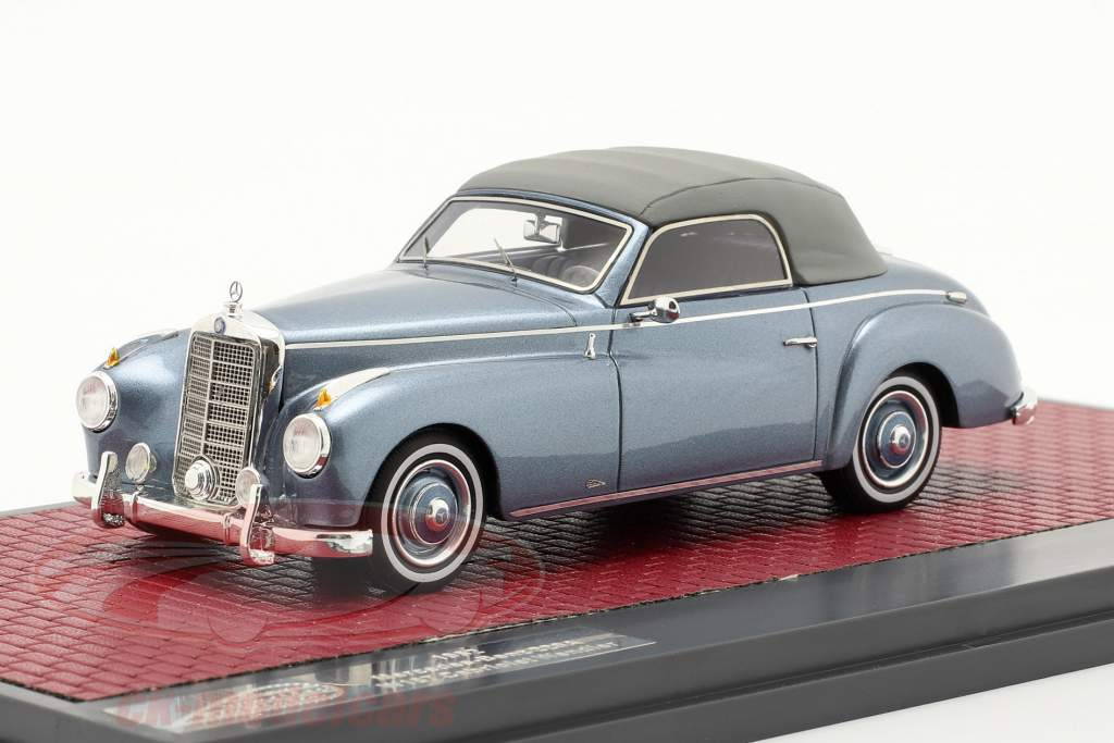 Mercedes-Benz 220 A (W187) Wendler Cabriolet Closed Top 1952 blau 1:43 Matrix