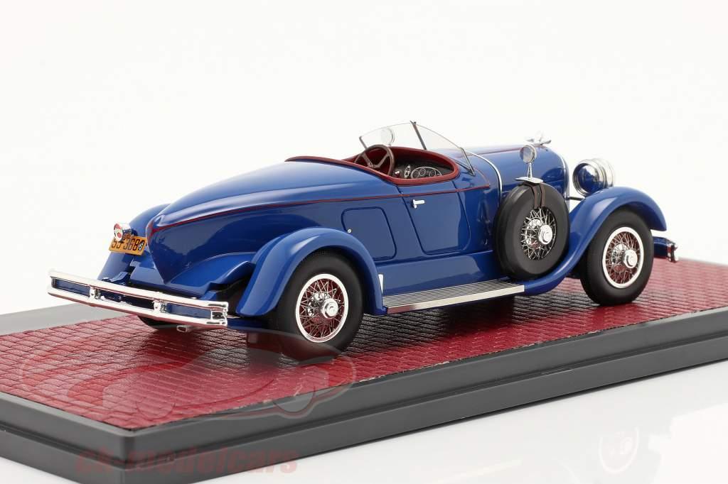 Duesenberg Model X McFarlan Boat Roadster 1927 blau 1:43 Matrix