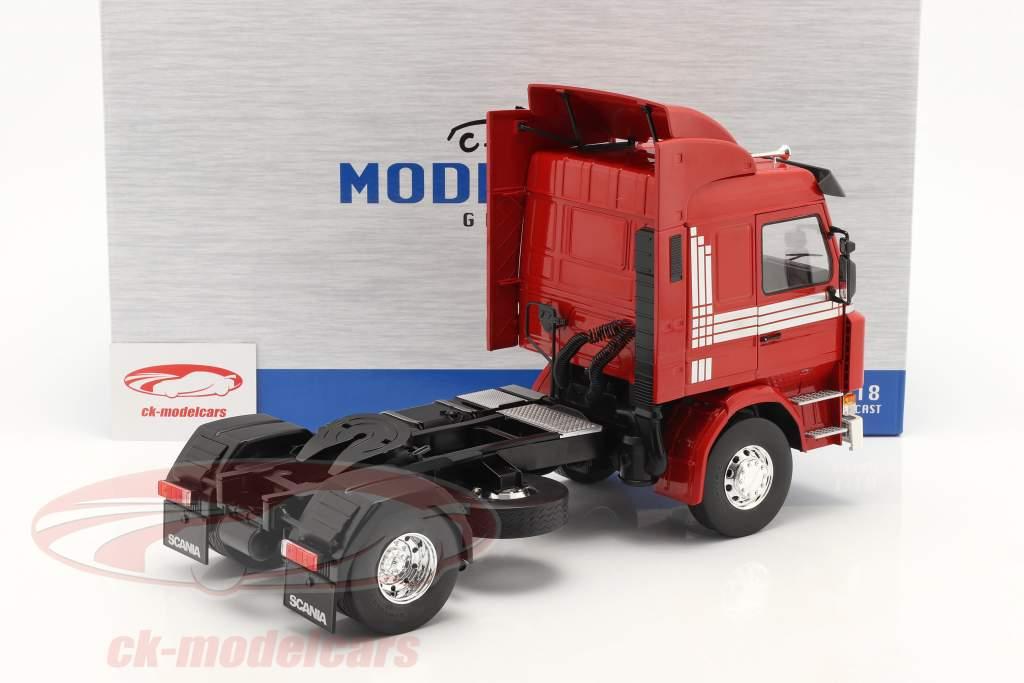Scania 143 Topline Truck 1987 Red / silver 1:18 Model Car Group