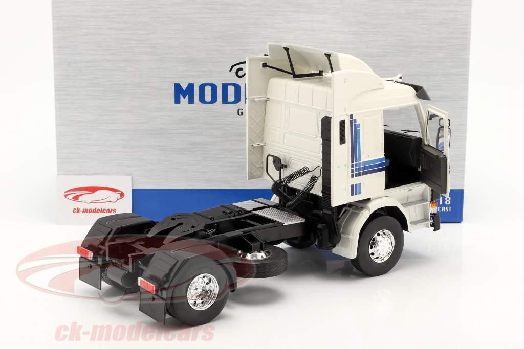 Scania 143 Topline Truck 1987 white / blue 1:18 Model Car Group