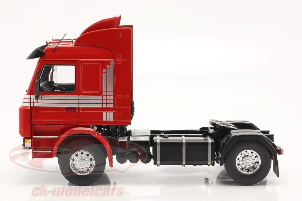 Scania 143 Topline Camión 1987 rojo / plata 1:18 Model Car Group