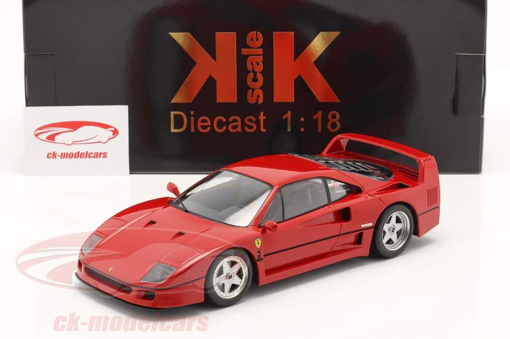 Ferrari F40 Byggeår 1987 Rød 1:18 KK-Scale