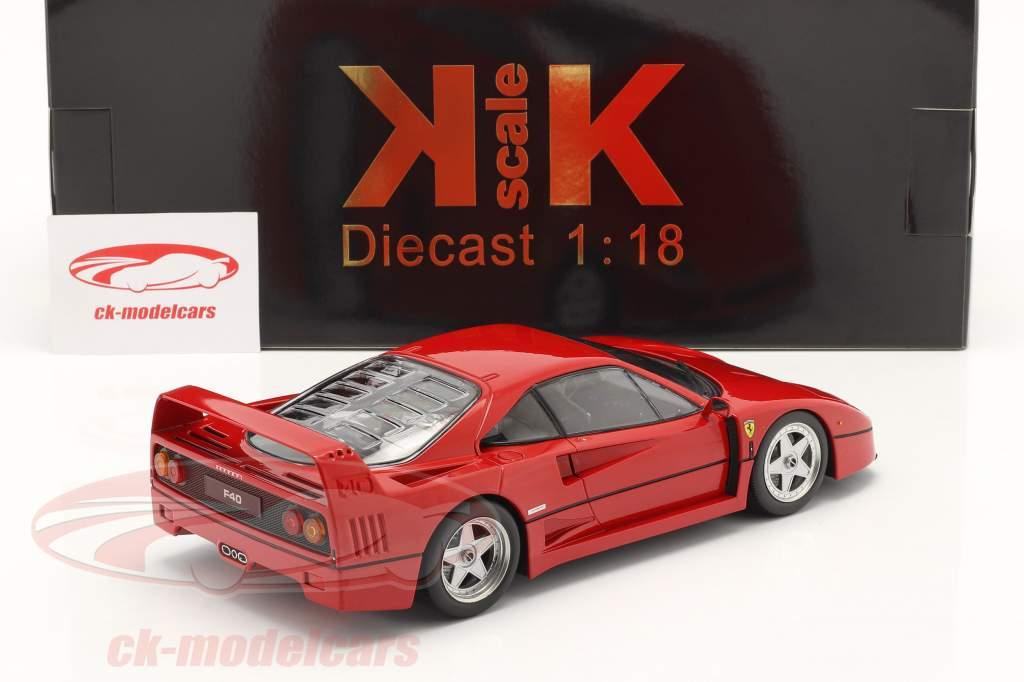 Ferrari F40 bouwjaar 1987 rood 1:18 KK-Scale