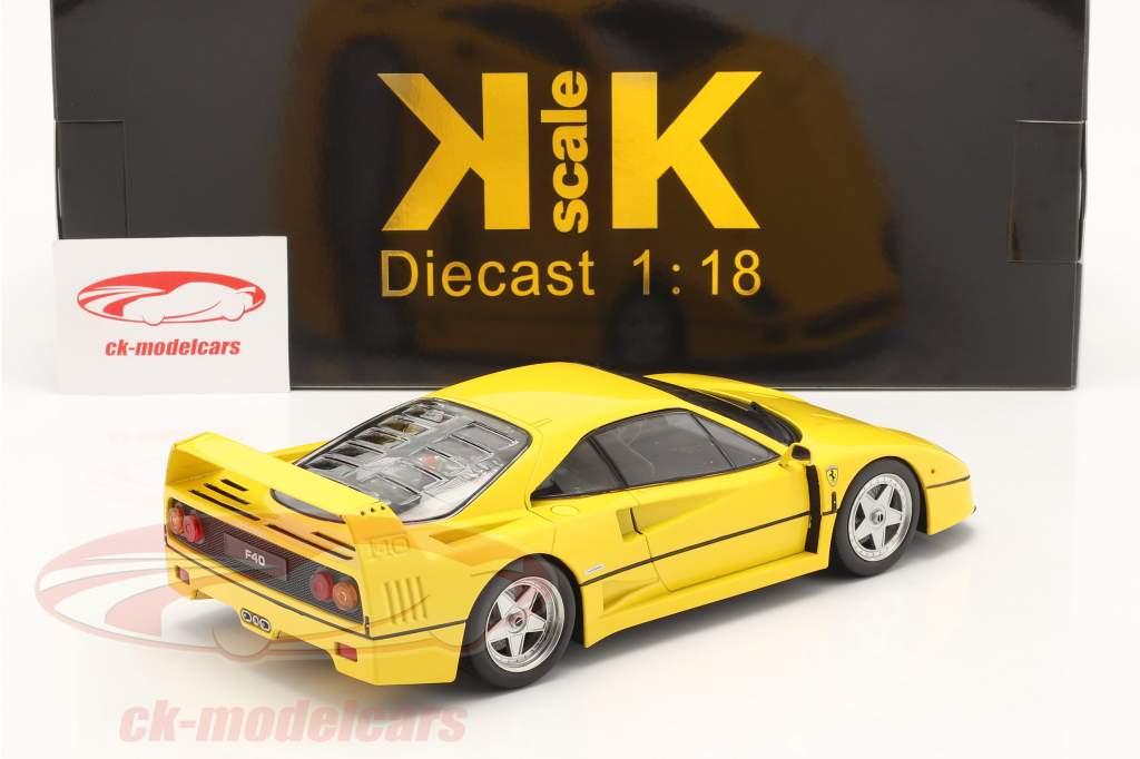 Ferrari F40  year 1987 yellow 1:18 KK-Scale