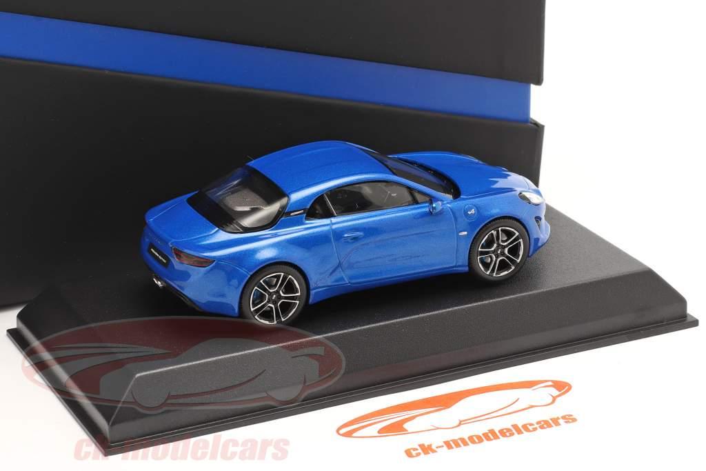 Alpine-Set: Guide Michelin, Câble de charge et Alpin A110 2017 bleu 1:43 Norev