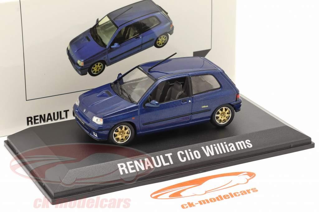Renault Clio Williams Année de construction 1996 bleu foncé 1:43 Norev