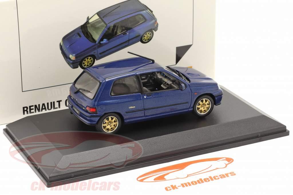 Renault Clio Williams Año de construcción 1996 azul oscuro 1:43 Norev