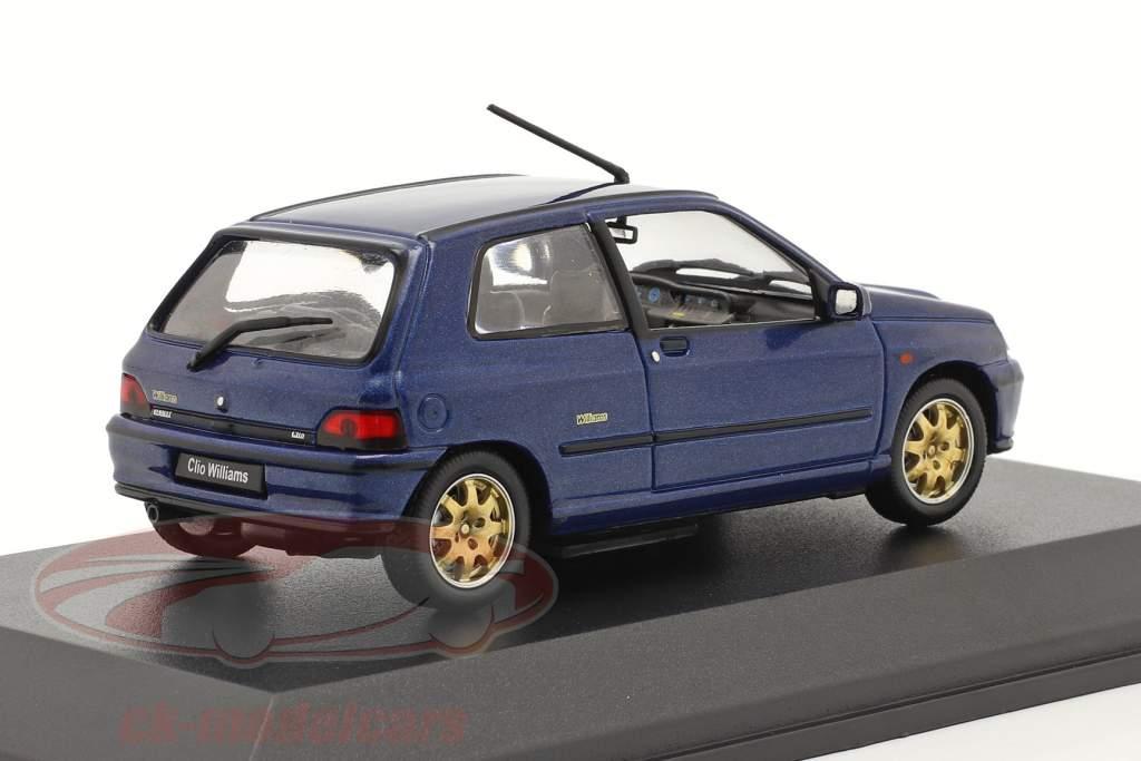 Renault Clio Williams Byggeår 1996 mørkeblå 1:43 Norev