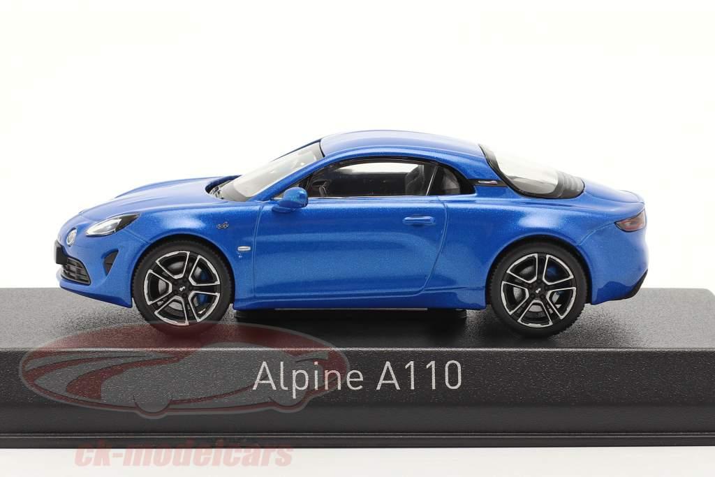 Alpine-Set: Guide Michelin, Ladekabel und Alpine A110 2017 blau 1:43 Norev
