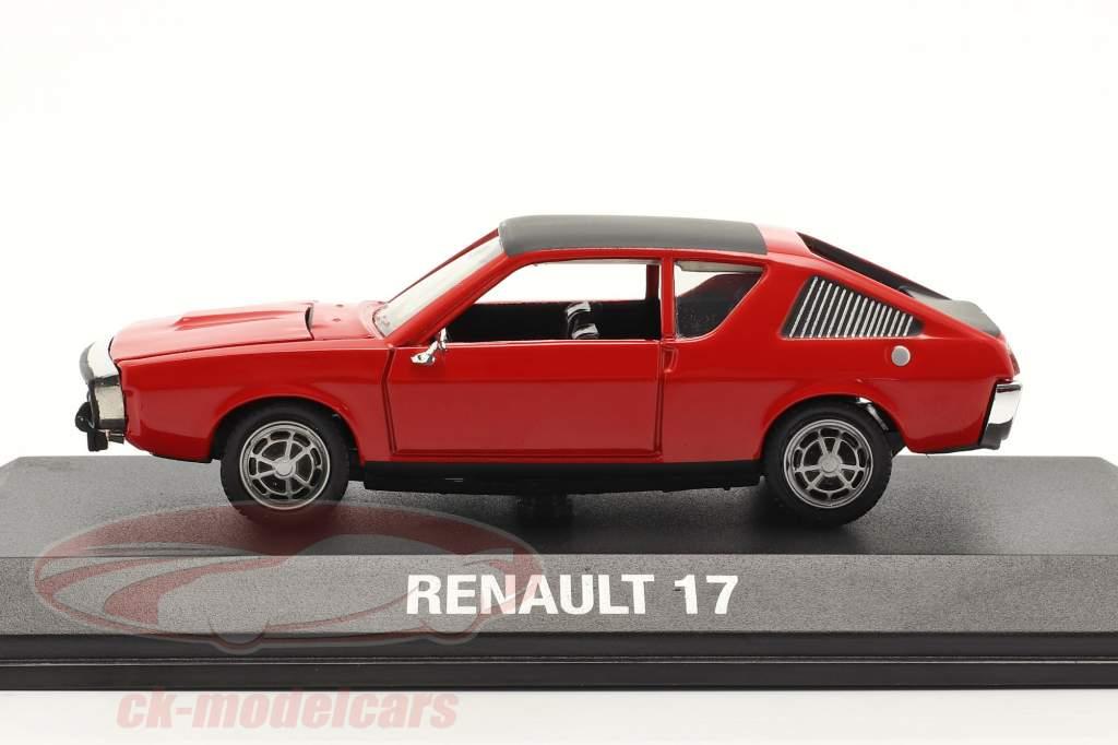 Renault 17 (R17) Año de construcción 1971-1979 rojo / negro 1:43 Norev