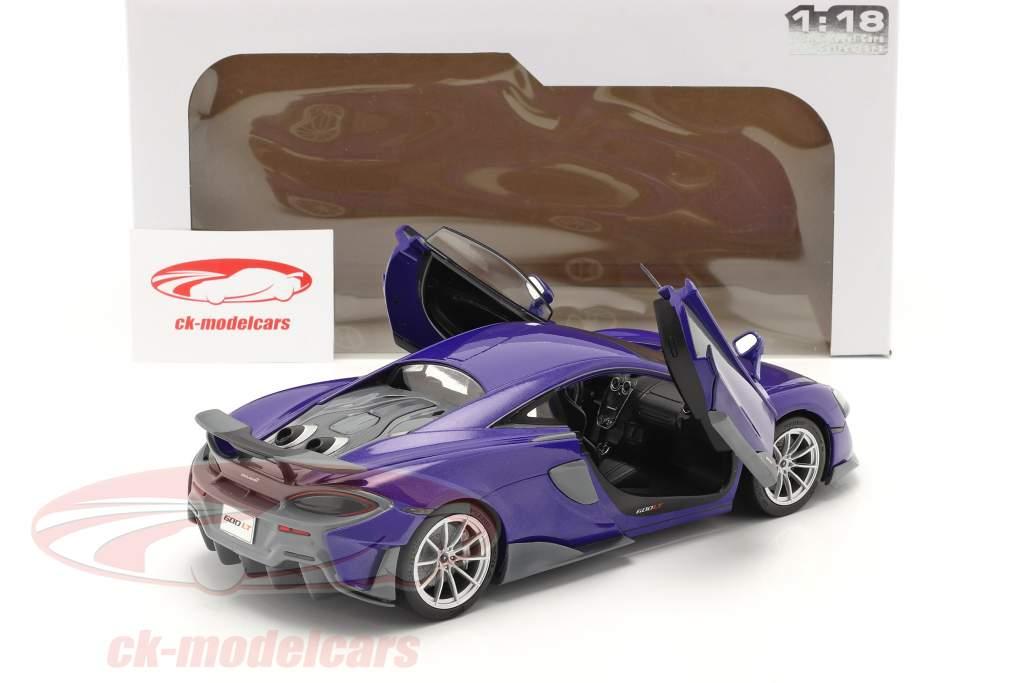 McLaren 600LT Coupe year 2018 purple metallic 1:18 Solido