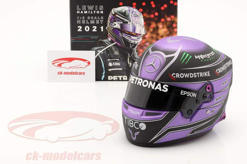 Lewis Hamilton #44 Mercedes-AMG Petronas Formel 1 2021 Helm 1:2 Bell