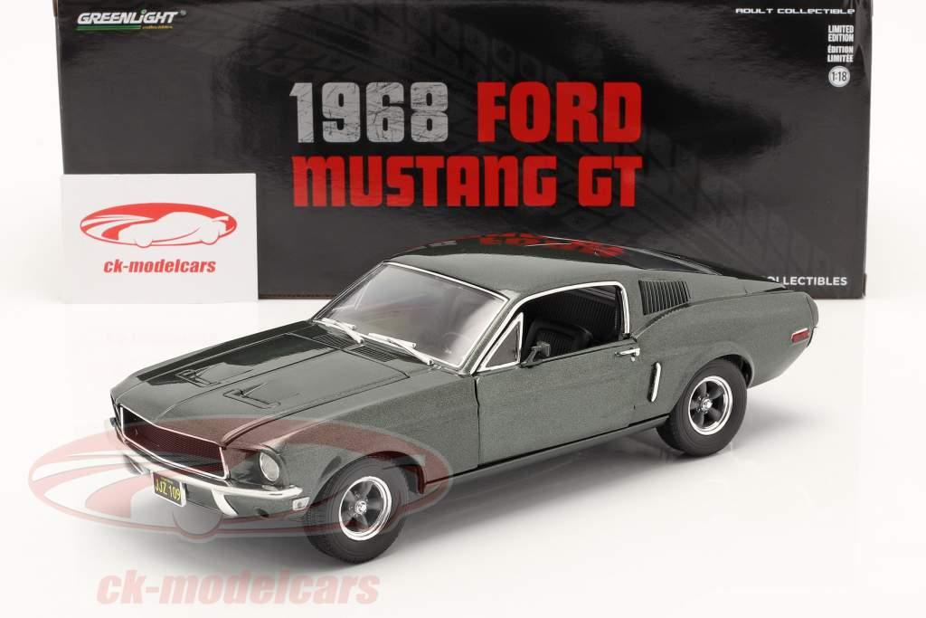 Ford Mustang GT Baujahr 1968 dunkelgrün metallic 1:18 Greenlight