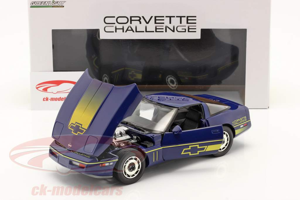 Chevrolet Corvette C4 Año de construcción 1988 azul / amarillo 1:18 Greenlight
