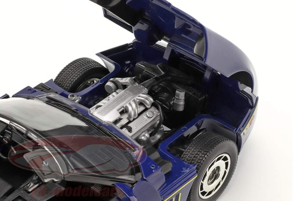 Chevrolet Corvette C4 Baujahr 1988 blau / gelb 1:18 Greenlight