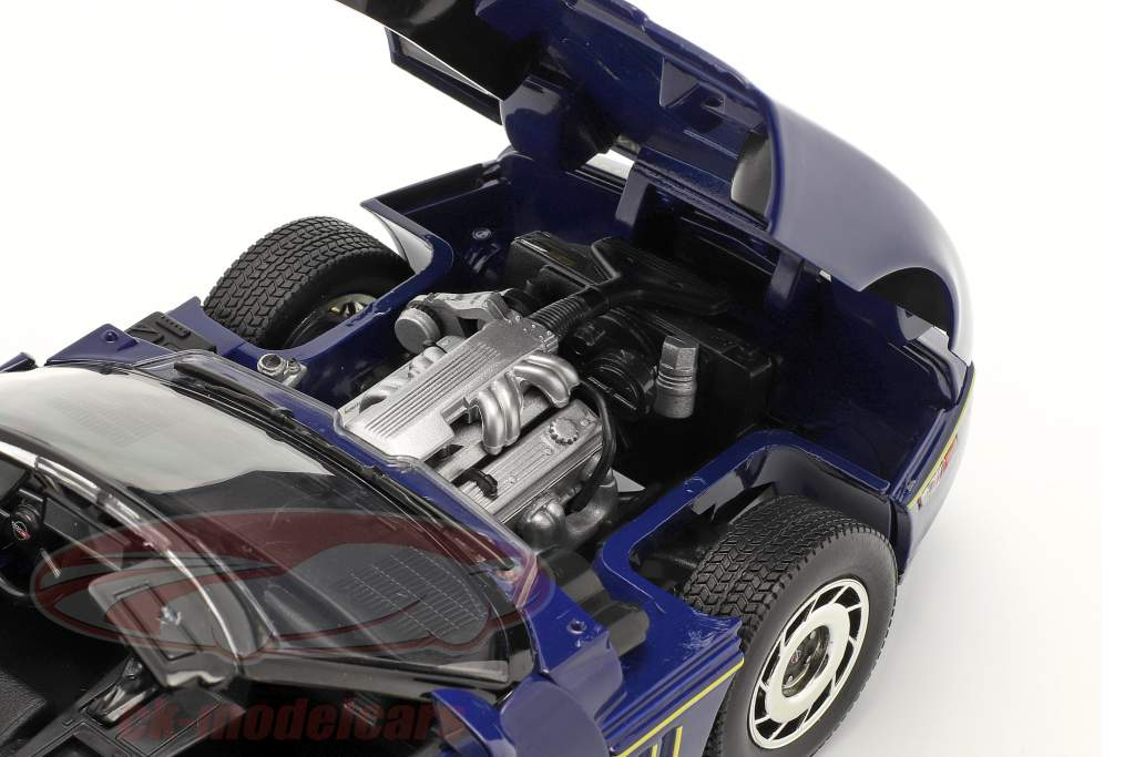 Chevrolet Corvette C4 Byggeår 1988 blå / gul 1:18 Greenlight