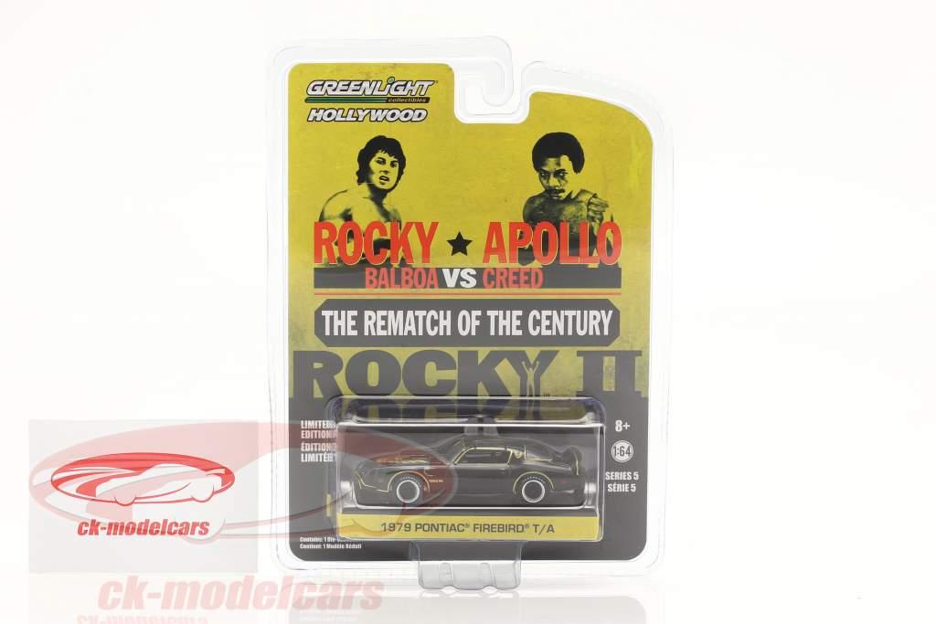 Pontiac Firebird Trans Am Film Rocky II (1979) sort / guld 1:64 Greenlight