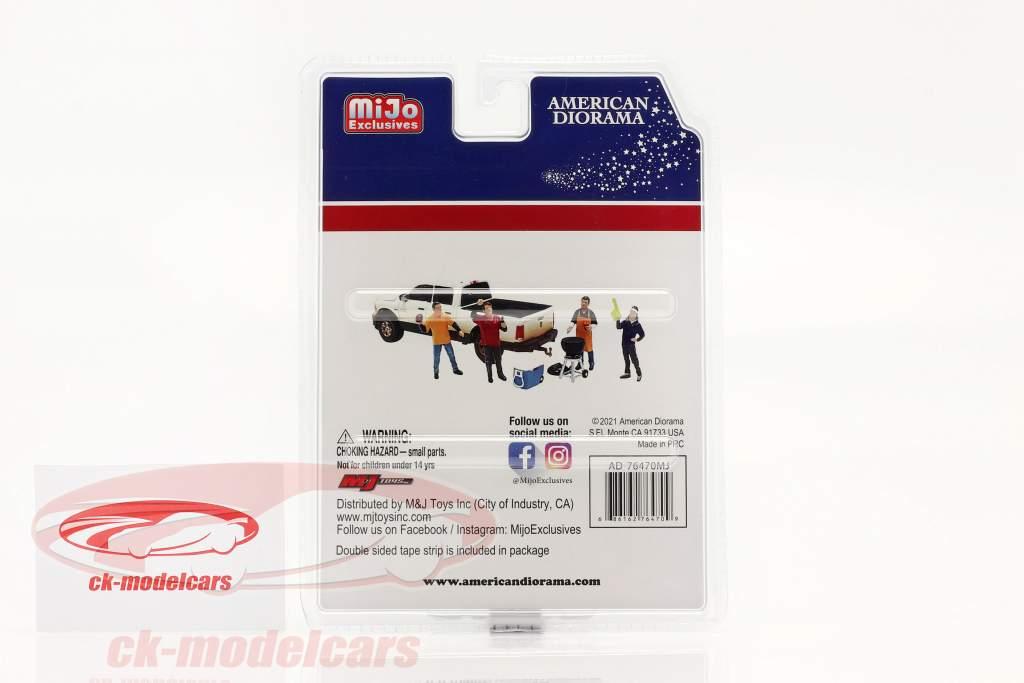 Tailgate Party Figure set 1:64 American Diorama