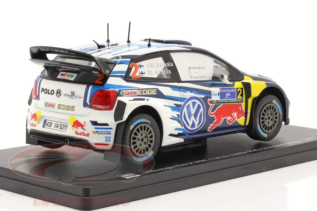 Volkswagen VW Polo R WRC #2 gagnant Rallye Guanajuato Mexique 2016 1:24 Altaya