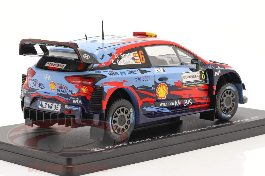 Hyundai i20 Coupe WRC #6 Winner Rallye Italy Sardinia 2019 1:24 Altaya