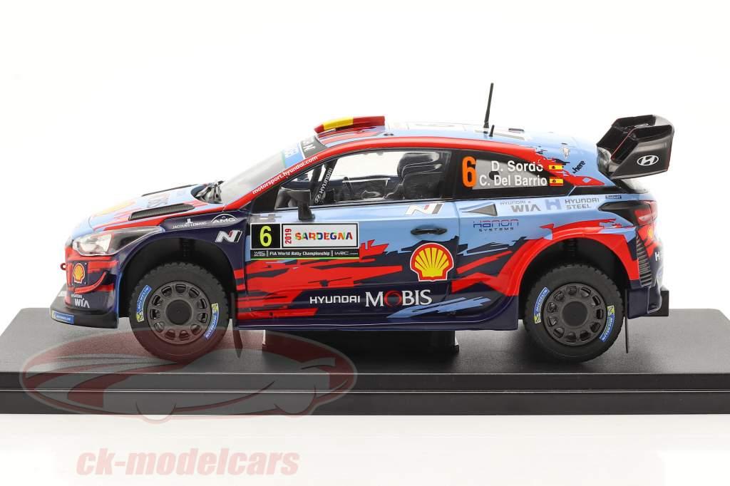 Hyundai i20 Coupe WRC #6 vinder Rallye Italien Sardinien 2019 1:24 Altaya