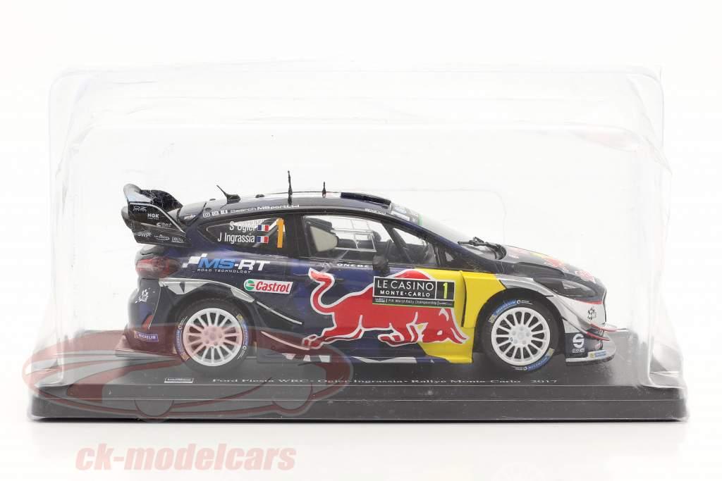 Ford Fiesta WRC #1 vinder Rallye Monte Carlo 2017 Ogier, Ingrassia 1:24 Altaya