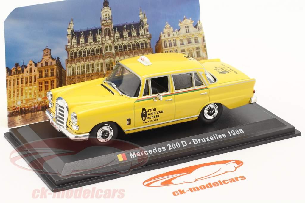 Mercedes-Benz 200 D Taxi Bruselas 1966 amarillo 1:43 Altaya