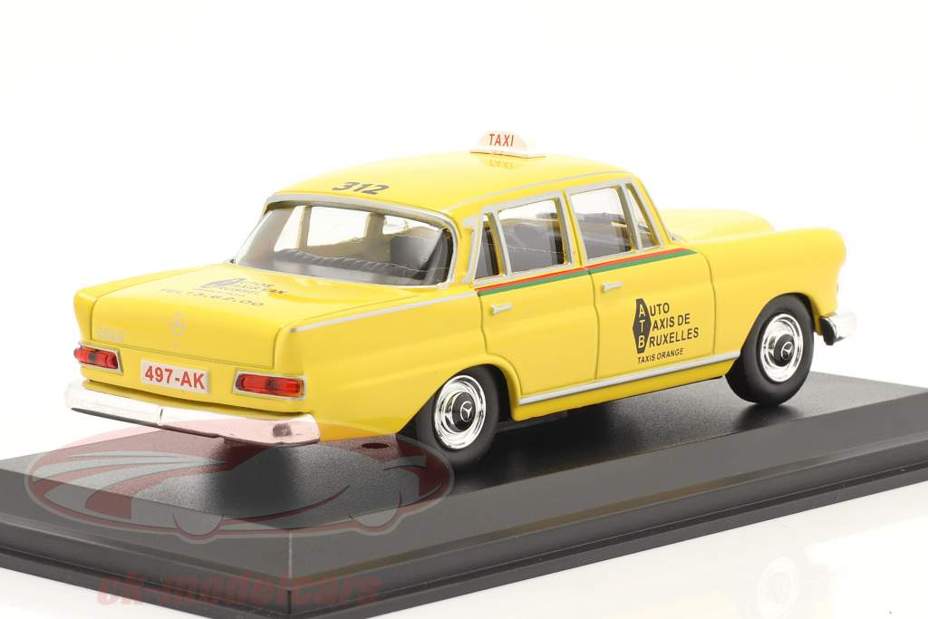 Mercedes-Benz 200 D Taxi Bruxelles 1966 jaune 1:43 Altaya