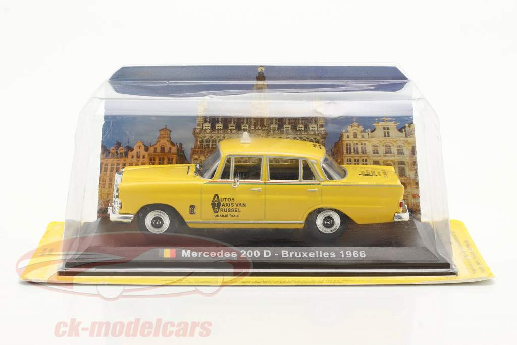 Mercedes-Benz 200 D Taxi Brussels 1966 yellow 1:43 Altaya