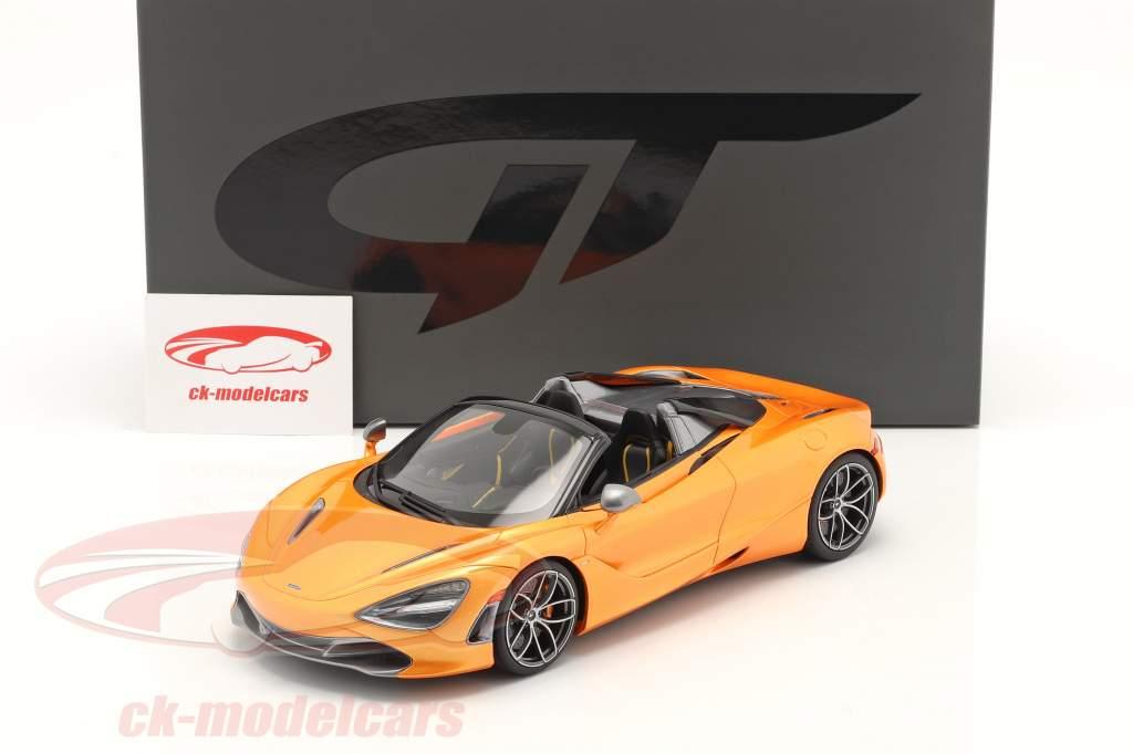 McLaren 720S Spider Baujahr 2018 orange metallic 1:18 GT-Spirit