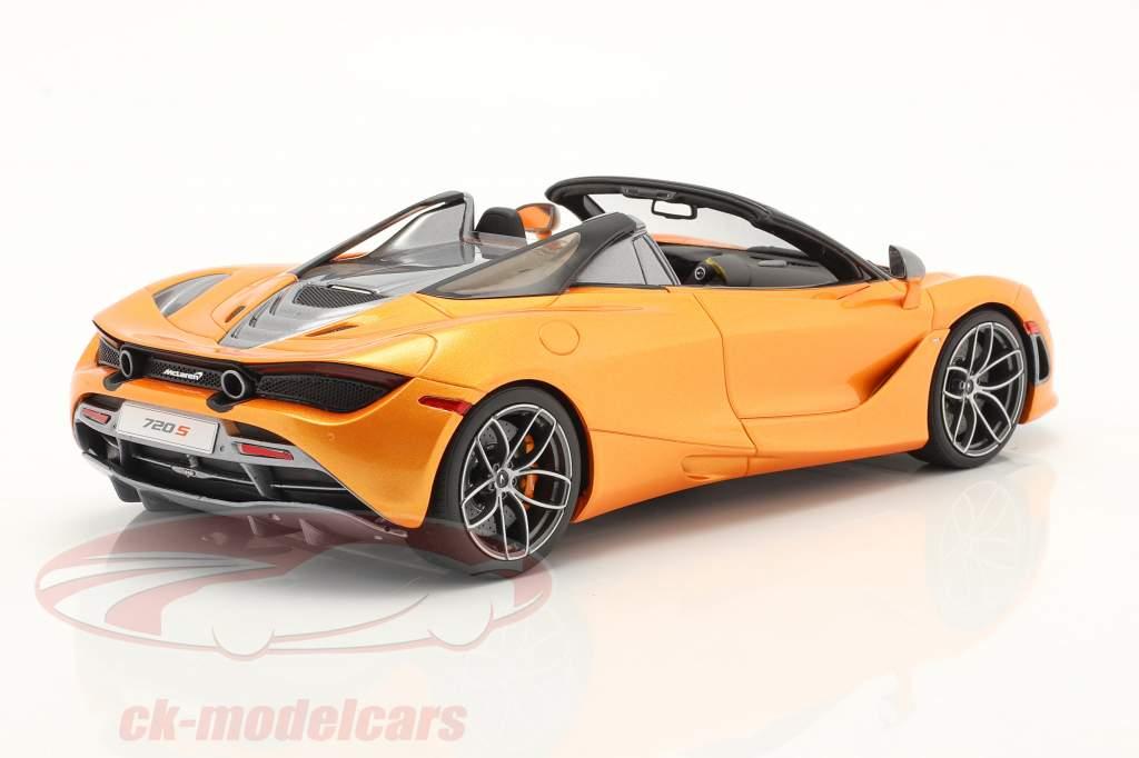 McLaren 720S Spider Año de construcción 2018 naranja metálico 1:18 GT-Spirit