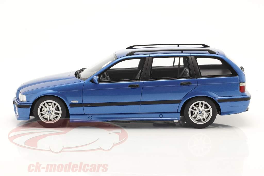 BMW 3 Series 328i (E36) Touring M Pack 1997 azul metálico 1:18 OttOmobile
