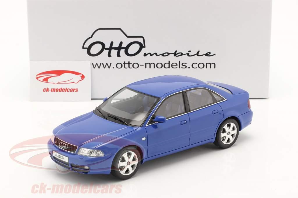 Audi S4 (B5) 2.7L Biturbo Baujahr 1998 nogaro blau 1:18 OttOmobile